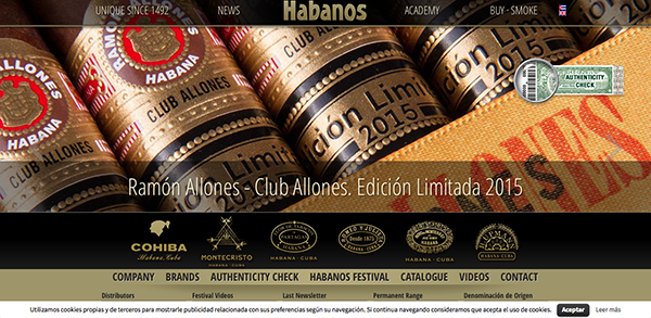 The new website of Habanos S.A.