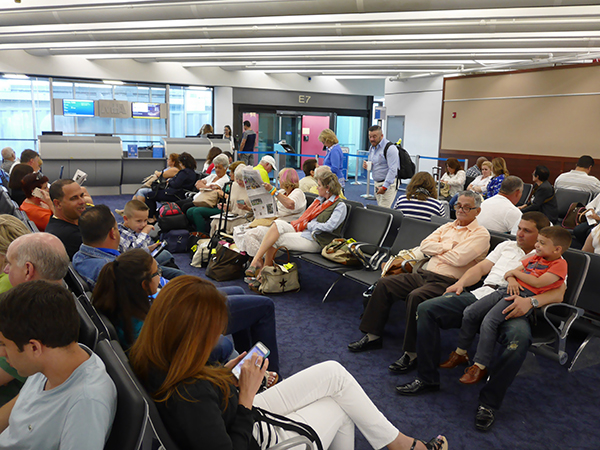 Americans and Cubans wait for CTS charter with American Airlines to Havana in June