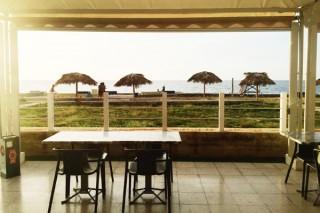 The patio at 7 Dias