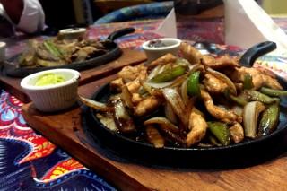 The fajita platter at Chili Habanero