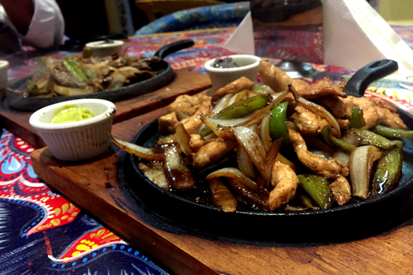 The fajita platter at Chili Habanero