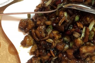 Kung pao chicken at Tin Hao